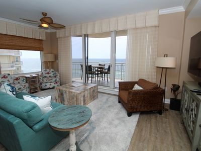 Photo for Indigo East 901- Beach Front View with Private Poolside Cabana!