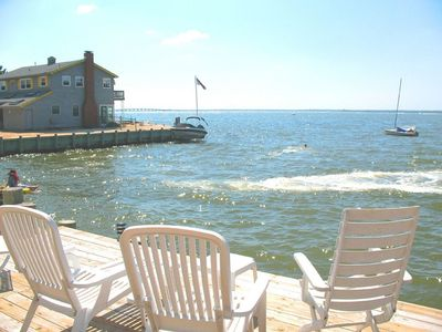 Photo for BAYFRONT with HOT TUB! - Surf City, Wonderful Bay Views & Spectacular Sunsets!!