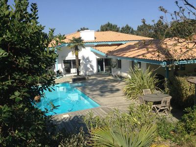 Photo for Charming villa Cap Ferret 4 bedrooms + swimming pool