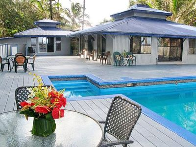 Photo for OCEANFRONT Studio or 2bdr House (99 per bdr)With Pool& Hottub