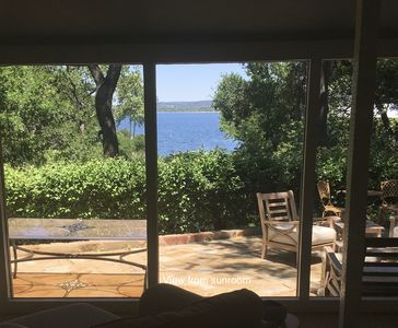 Photo for Lakefront Cottage with Gorgeous Lakeviews on Beautifully Blue Lake Travis,Austin