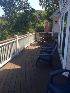 Large two level deck with plenty of seating to enjoy the view!