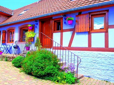 Photo for Small cozy nest with GARDEN in the heart of Alsace near Obernai. FREE WIFI