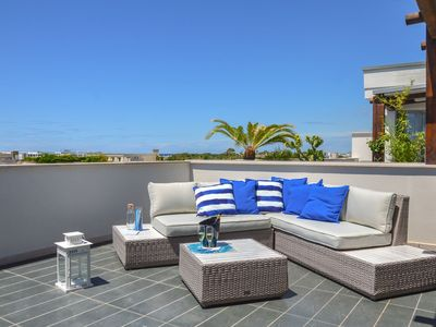 """Photo for Exclusive attic sea view """"Dune"""", located on the second floor of an exclusive residence with elevato"""