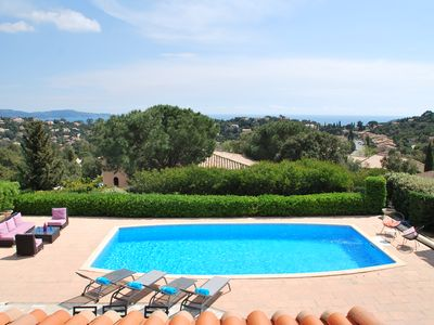Photo for Large luxury villa 10 pers Sea view with private pool air conditioning wifi