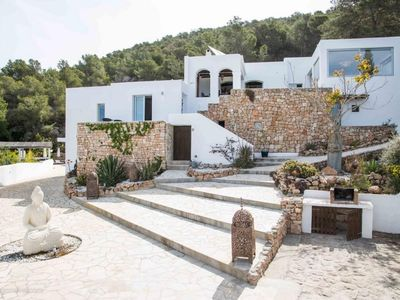 Photo for 5 bedroom Villa, sleeps 8 in Es Cubells with Pool, Air Con and WiFi