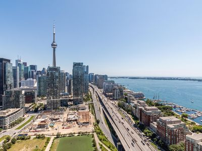 Photo for Simply Comfort. Unforgettable 43 Floor CN Tower View.
