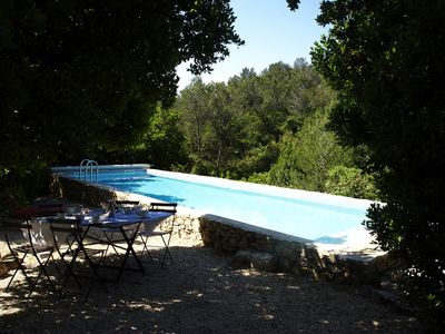Photo for Modern house with private swimming pool, in full nature.