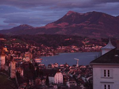 Photo for Beautiful apartment over the roofs of Lucerne