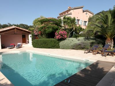 Photo for Old Vineyard Villa with heated pool and seaview