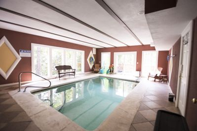 17' Heated Indoor Pool  3' - 5' depths.