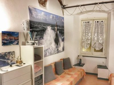 Photo for Inside Camogli, apartment with air conditioning, garden and wifi