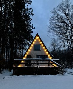 Photo for A-Frame Getaway with Hot Tub