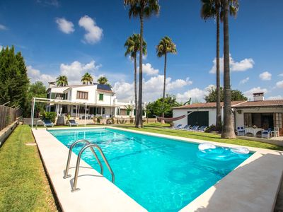 Photo for This 5-bedroom villa for up to 10 guests is located in Inca and has a private swimming pool, air-con