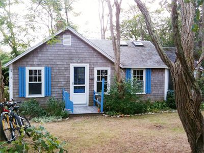 Photo for Charming & cozy Wellfleet cottage on quiet road 3/4 mile to beach.