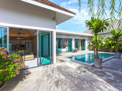 Photo for ⭐Modern Getaway Villa 3 BR Sleeps 6 w/Private Pool