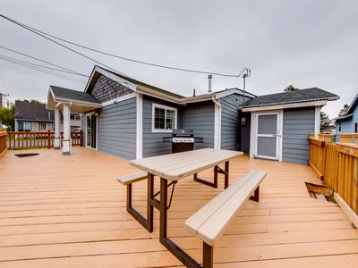 Photo for Charming Seaside home w/ a private hot tub & easy beach access!