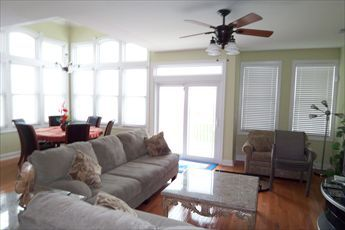 Photo for OCEANFRONT in Wildwood Crest has a fabulous panoramic view of the ocean and beach from the living room, dining room and balcony