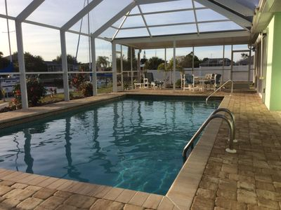 Photo for 3BR/2BA, Waterfront Pool Home w/ Gulf Access - Relax and Enjoy!