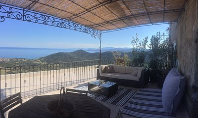 Photo for Monticello - Apartment in village house - Terrace - superb sea view