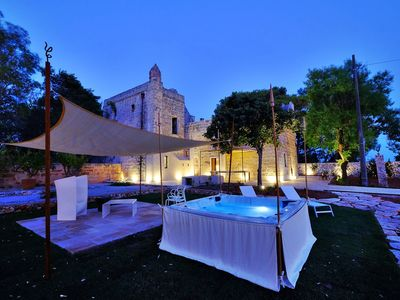 Photo for Beautiful private villa with A/C, hot tub, WIFI, TV, patio, panoramic view and parking