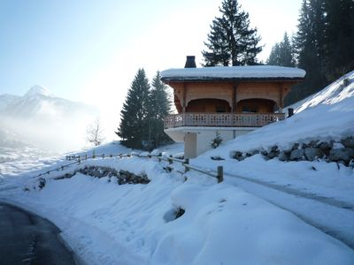 Photo for Comfortable Chalet with Spa, Sauna, Fireplace, close to ski slopes