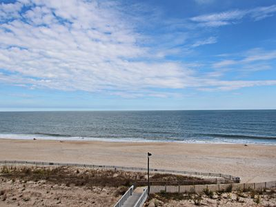 """Photo for G508: Rare 3BR Sea Colony """"Point"""" oceanfront condo! Beach, pools & tennis!"""