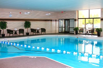 Take a dip in the indoor pool.