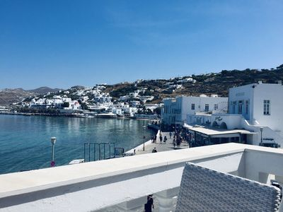 Photo for Mykonos Old Harbor Front Suite with Balcony