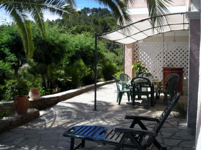 Photo for Apartment ds luxury villa. Terrace. Parking. Garden. Calm. Sea view and hills