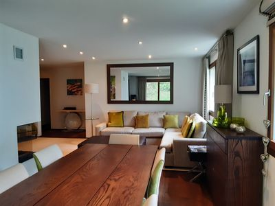 Photo for Luxurious family-friendly apartment with a fireplace and balcony
