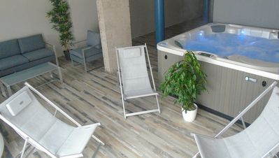 Photo for Villa L'Océane ****, 260 m², 50m from the beach, relaxation area with SPA, 10 pers.