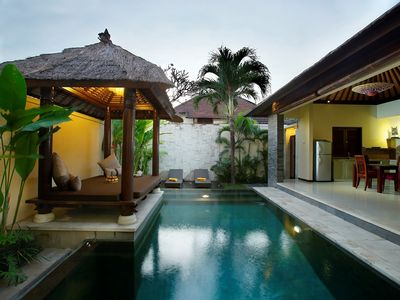 Photo for 1 BR pool villa canggu w/airport pick up