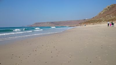 sennen cove beach, 15 minutes scenic drive from harbour view