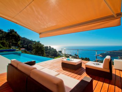 Photo for Beautiful Modern Hilltop Villa With Salt Water Infinity Pool And Stunning Views