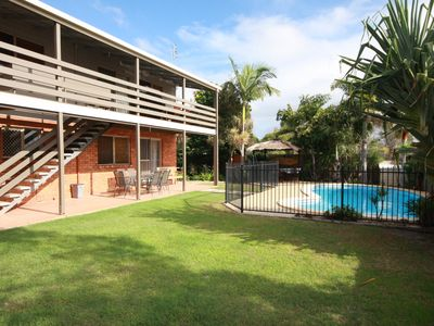 Photo for 21 Kurrawa Drive - Pet friendly family home with balcony overlooking swimming pool