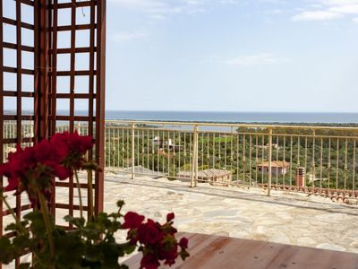Photo for Sea view, with garden, BBQ area with furnished gazebo