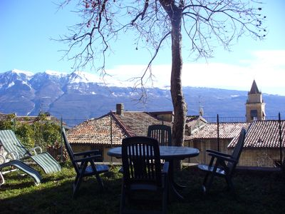 Photo for Newly renovated studio in stone-built small village, great views on Lake Gard