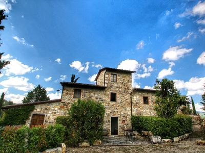 Photo for Farmhouse with pool, terrace and garden, walking distance from Radda in Chianti