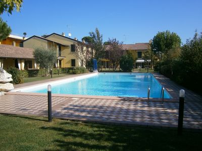 Photo for Beautiful 3-room apartment in Moniga del Garda with pool and terrace