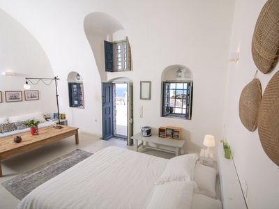 Photo for Sunny Winehouse. Stylish studio with big terrace and stunning sea - sunset views