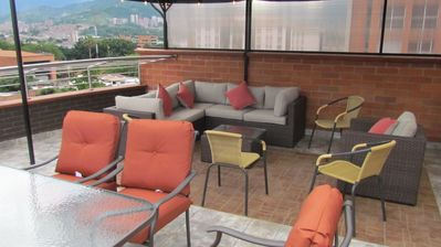 Photo for Both Penthouses Elevator Building Roof Top 7 beds, Guests ok AC