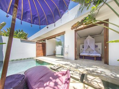 Photo for House 894 m from the center of Kuta with Internet, Pool, Air conditioning, Parking (1015287)