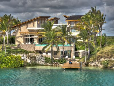Photo for State-Of-the-Art Resort Villa, Chef/Butler Service, Kayaks and Oceanfront w/ Dock, Free Wifi, AC