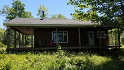 Photo for (NEW LISTING) A Modern Lakeside Log Cabin in a Woodland Setting