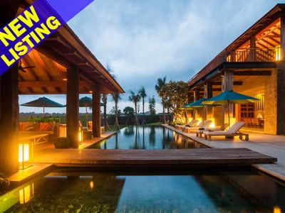 Photo for Luxury 5 Bedroom Villa Ocean & Rice Field View,  Near Canggu