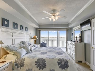 Photo for Walk to Boardwalk! Immaculate Bayfront - Wi-Fi, Pool & Sunsets!