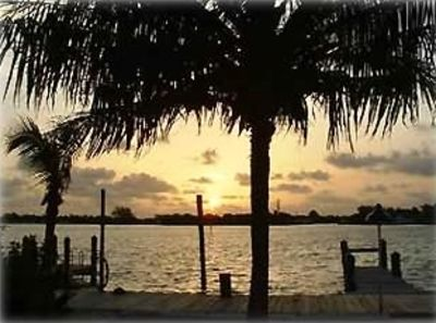 Sunrise view from patio over Bonefish Bay
