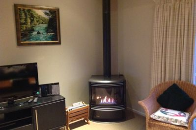 Gas Log Fire corner to relax