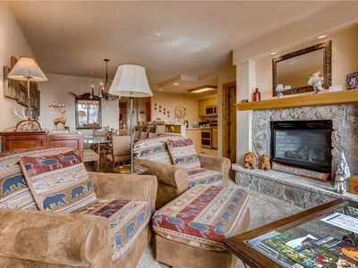 Photo for Ski-in/ ski-out slopeside condo w/ gorgeous valley view and resort amenities